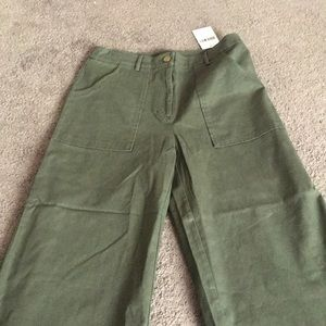 Forever 21 green wide cropped pants
